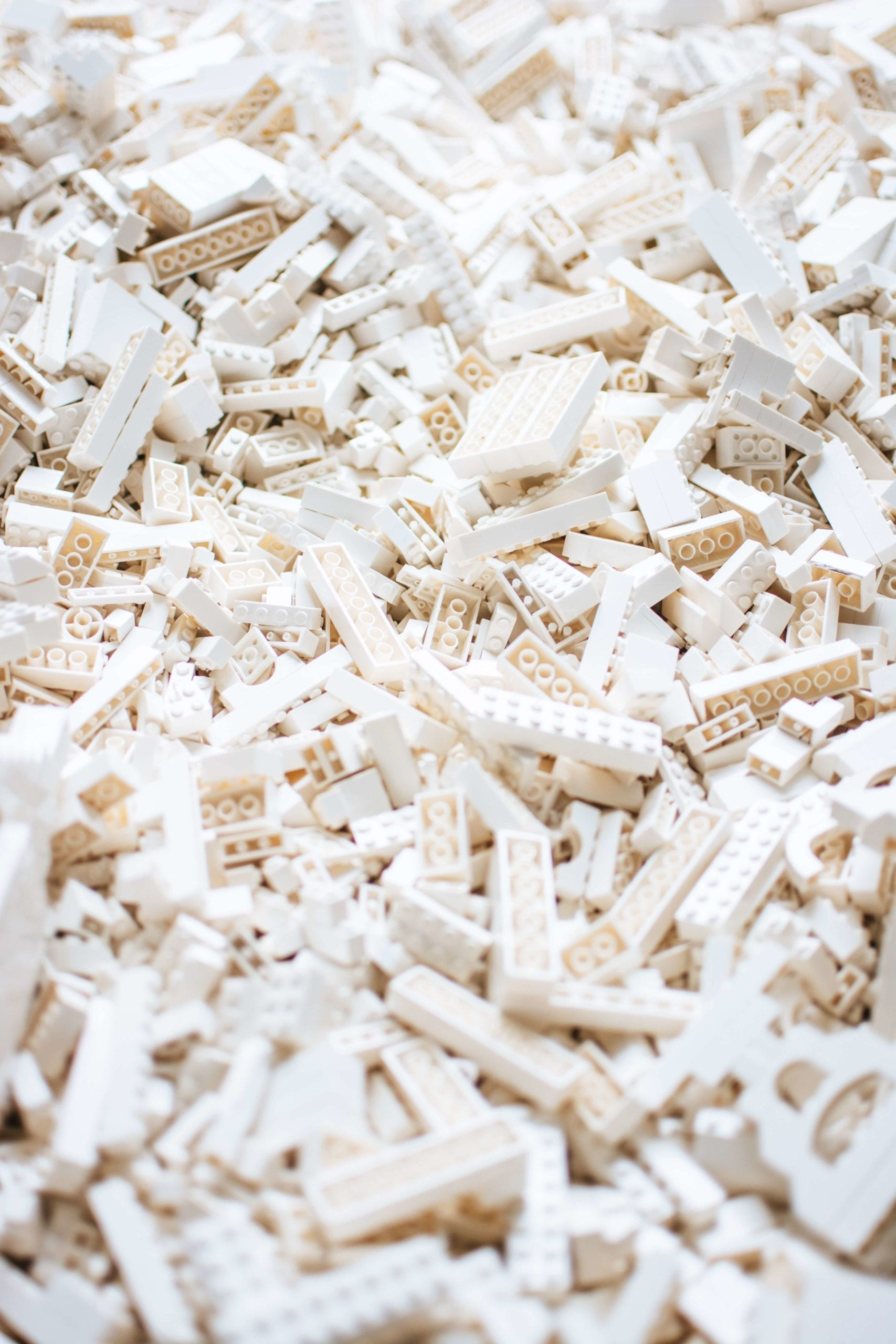 white lego pieces